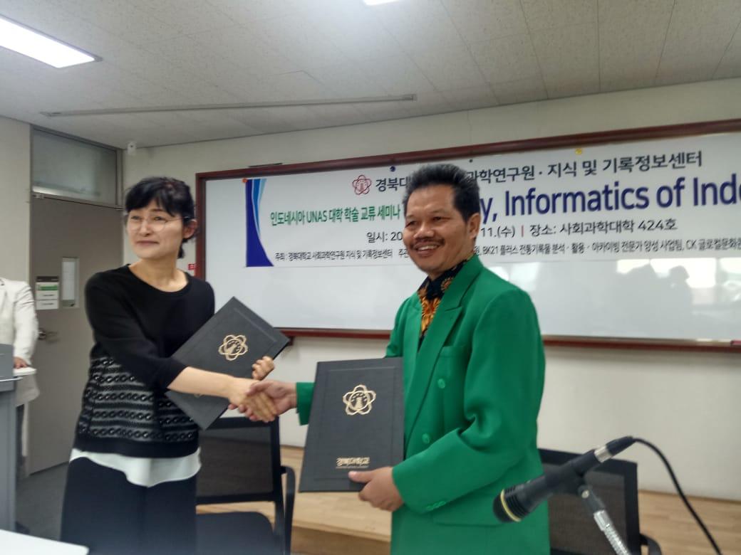 Acara Penandatanganan Lol UNAS di Kyunpook National University