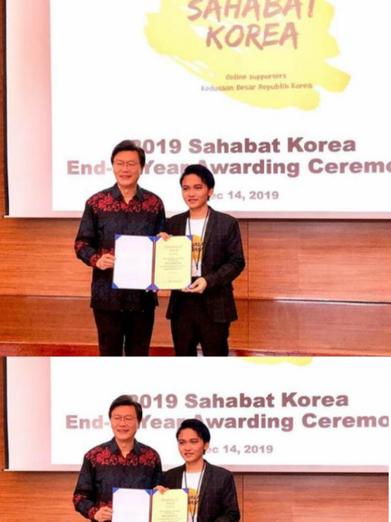 "Mahasiswa Bahasa Korea Menerima Penghargaan ""Sahabat Korea"""